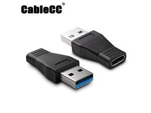 Cablecc USB-C USB 3.1 Type C Female to USB 3.0 A Male Data Adapter for Macbook Tablet Mobile Phone UC-357-BK