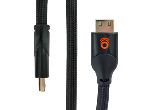 ECHOGEAR 8 ft Braided HDMI 2.1 Cable - 4k & HDR Compatible With Gold Plated Connections For the Best Picture - Supports HD, 4k, 3D, & Ethernet Signals With 120fps Refresh & 48gbps Bandwidth