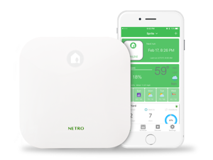 Netro Sprite Smart Sprinkler Controller, 6-Zone, WiFi, Weather aware, Remote control, Amazon Alexa and Google Home compatible