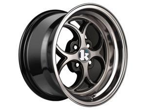 Klutch 1266 SL2 Double Dark Tint Black Wheels ET15 (16x8/4x100mm)