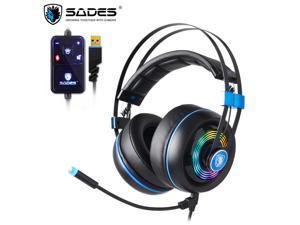 7eb25af14c0 SADES Armor USB Gaming Headset Realtek Gaming Audio Lightweight RGB ...