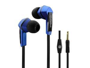 Unnecto Rush Square 3.5mm Flat Wire Stereo Hands_Free Ear Buds _Black_Blue