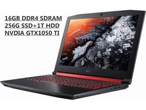 "Acer Nitro5 15.6""Full HD Widescreen IPS Gaming Laptop,Intel Core i5-7300HQ, Quad-Core , GeForce GTX 1050 Ti, 16GB DDR4, 256GB SSD And 1TB HDD, Backlit Keyboard, 2x2 802.11ac, Bluetooth , Win 10 Home"