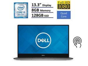 New Dell XPS 13 Flagship 13.3 Full HD InfinityEdge Anti-glare Touchscreen Laptop|Intel Core i5-8250U|8GB LPDDR3|128GB SSD|Backlit Keyboard |Thunderbolt|MaxxAudio|Killer 802.11ac|Fingerprint|Widows 10