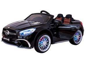 Electric 12V Power Battery Mercedes AMG SL65 Ride On Car Remote Control LED MP4 Screen Slot Black