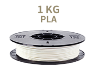 [Universal 3D Filament] XYZprinting PLA 3D Printer Filament, 1kg Spool, 1.75 mm, White [Also Works with da Vinci Jr/Mini/Nano Series, Extra Spool Holder Needs to be Printed]