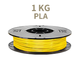 [Universal 3D Filament] XYZprinting PLA 3D Printer Filament, 1kg Spool, 1.75 mm, Yellow [Also Works with da Vinci Jr/Mini/Nano Series, Extra Spool Holder Needs to be Printed]
