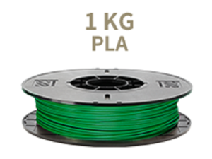 [Universal 3D Filament] XYZprinting PLA 3D Printer Filament, 1kg Spool, 1.75 mm, Green [Also Works with da Vinci Jr/Mini/Nano Series, Extra Spool Holder Needs to be Printed]