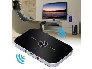 2in1 Wireless Bluetooth Transmitter+Receiver USB Cable for Audio Speaker Adapter Black