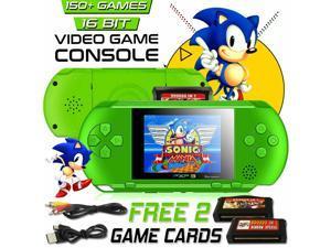 16 Bit Handheld Portable Video Game PXP 3 Console 150 Retro Games DS Megadrive