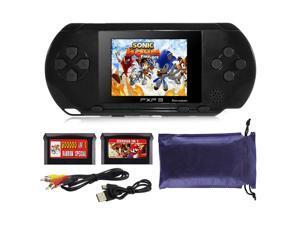 150 Retro Games 16 Bit PXP3 Portable Video Game Handheld Console Megadrive Black