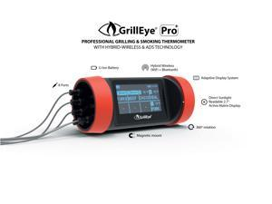 NEW GrillEye Pro+  Wifi and Bluetooth Enabled Grill Thermometer