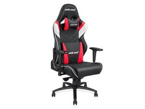 Anda Seat Assassin King Series Big and Tall Gaming Chair, High-Back Desk and Office Chair 400LB With Lumbar Support and Headrest (Black/White/Red) AD4XL-03-BWR-PV