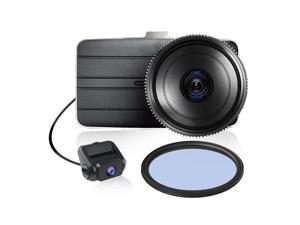 KDLINKS® DX2 Full-HD 1080P Front + 720P Rear 290° Super Wide Angle Car Dash Cam with G-Sensor & WDR Superior Night Mode