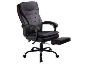 GTracing Office Chair Executive chair Ergonomic design PU Leather Manager Chair Black