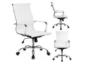 GTP Modern Ribbed Leather Office Chair Ergonomic with High Back