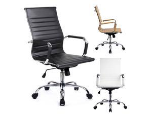 GTracing Modern Ribbed Office Chair Leather Office Chair High back Ergonomic Chair Swivel Conference Chair