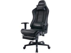 GTracing Gaming Chair Heavy Duty Office Chair with Footrest E-sports Chair for pro gamer Ergonomic Seat Height Adjustable Multifunction Recliner with Headrest and Lumbar Support Pillow GT901