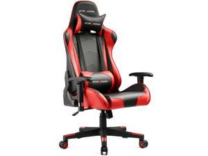 GTRACING Gaming Office Chair - Racing Style  E-Sports Chair with Ergonomic Backrest, Seat Height Adjustment, and Pillows