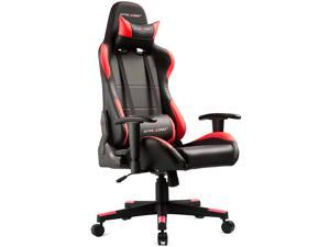 GTRACING Gaming Chair Ergonomic Racing Chair PU Leather High-Back PC Computer Chair Adjustable Height Professional E-Sports Chair with Headrest and Lumbar Pillows GTBEE Series