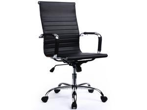 GTRACING Modern Ribbed Leather Office Chair Ergonomic with High Back
