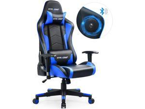 GTRACING Gaming Chair with Bluetooth Speakers Music Video Game Chair Audio Heavy Duty Computer Desk Chair GT890M-Blue