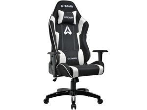 GTXMAN Gaming Chair Racing Style Office Chair Video Game Chair Breathable Mesh Chair Ergonomic Heavy Duty 350lbs Esports Chair X-005 White