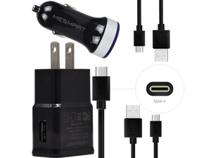cf08938853c Fast Dual USB Car Car Charger+Wall Plug+C Cable For LG Stylo 4 G7 V35 ...
