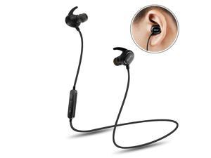 Wireless Headphone, QCY QY19 Wireless Sport Headset Ultra Lightweight Bluetooth 4.1 CVC 6.0 Noise Cancelling IPX4 Sweatproof(Black)