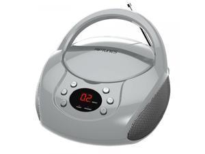 Impecca CDB-204S Riptunes Cd Boombox W/ Am/fm Radio Silvr