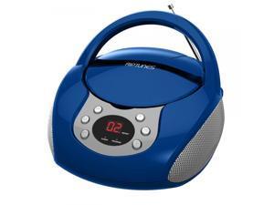 Impecca CDB-204B Riptunes Cd Boombox W/ Am/fm Radio, Blue