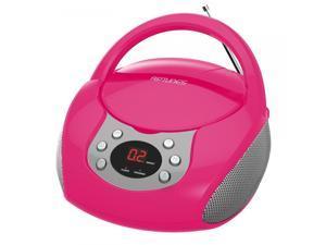 Impecca CDB-204P Riptunes Cd Boombox W/ Am/fm Radio, Pink