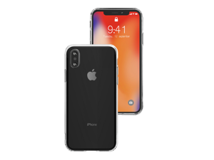 VogDUO Shell Series iPhone X Case with Denim Style Polyurethane Back, No Slip Design, Ultra Thin Drop Protection for Apple iPhone X  - Crystal Clear