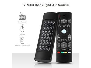 MX3 Air Mouse Backlight Optional Wireless Mini Keyboard 2.4Ghz Remote Control IR Learning Fly Air Mice Backlit For Mini PC HTPC Laptop Smart  Android TV Box Remote Control