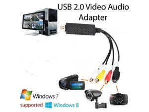 Easycap USB 2.0 Video Capture TV DVD VHS Video DVR Capture Adapter Card with Audio Support Win7/8/Vista for Computer/CCTV Camera
