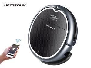 Liectroux Q8000 Robotic Vacuum Cleaner with Wifi APP Control, Map Navigation, Smart Memory, Adjustable Suction Power, Water Tank, Wet And Dry Mopping