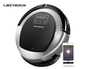 Liectroux B6009 Robot Vacuum Cleaner with Map Navigation, Memory, Voice Prompt, Adjustable Suction Mode, Twining-proof Brush, 2 Way UV Light, 3D Filter, and Water Tank Robot Mop