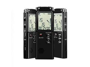 Adokey Digital voice recorder 8GB 1536kbps Dictaphone ,Voice activated, HQ Recording Microphone,Voice Recorder For Lecture,sound Audio Recorder with One Touch Recording, A-B Repeat, Mp3 Player