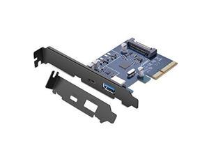 UGREEN PCI Express Card with USB 3.1 Type-C Ports and USB 3.1 Type A Port, Supports 10Gbps Max for Desktop PC
