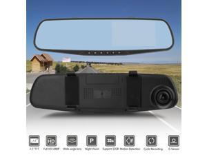 Car Video 4.3 Hd Video Dual Lens Dvr Led Camera Rearview Mirror Car 1080p Driving Recorder To Help Digest Greasy Food