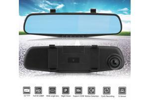 Mirrors Car & Truck Parts 4.3 Hd Video Dual Lens Dvr Led Camera Rearview Mirror Car 1080p Driving Recorder To Help Digest Greasy Food