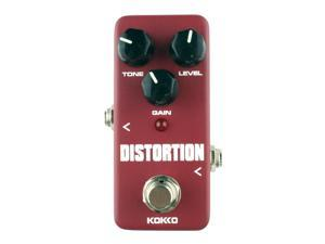 KOKKO FDS2 Mini Electric Guitar Monoblock Distortion Effects Pedal(Wine Red)