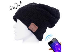 a90e99d0000 Weave Textured Knitted Bluetooth Headset Warm Winter Beanie Hat with ...
