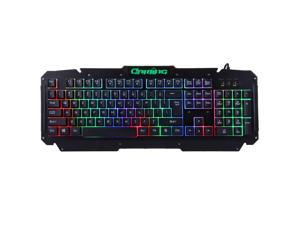 M500-S Multimedia USB 104 Keys Wired Colorful Backlight Metal Gaming Keyboard for Computer PC Laptop