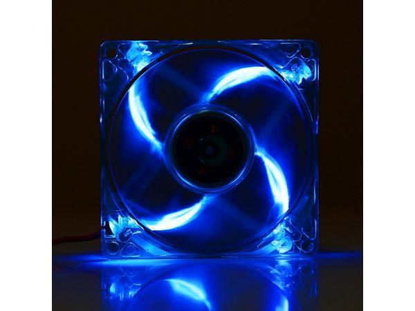 8025 4 Pin Dc 12v 0 18a Computer Case Cooler Cooling Fan With Led Light