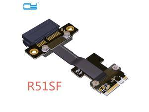 Riser M.2 WiFi A.E Key A+E To PCIe 1x x1 Riser Extender Adapter Card Ribbon Cable Gen3.0 Key A E For PCI-E 3.0 x1 x4 x16 M2 Card-20CM