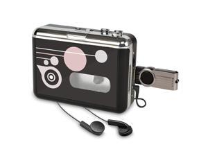Cassette Player USB Cassette to MP3 Converter, Portable Cassette Audio Music Player Tape-to-MP3 Converter and Cassette Recorder with Earphones, No PC Compatible