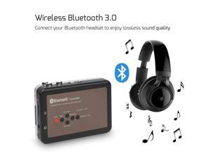 Bluetooth Cassette Player-Portable Digital Bluetooth Tape Cassette Player-Cassette to Mp3 Converter for Walkman Cassette Audio Music- Cassette Recorder with Earphones