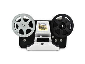 """8mm Roll Film & Super8 Roll Film Reels(5""""&3"""") Digital Vido Scanner and Movie Digitizer with 2.4"""" LCD, Black (Film2Digital MovieMaker) with 32 GB SD Card"""