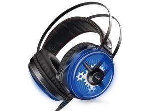 3dfd0751eec E-books LED PC Gaming Over-Ear Noise Cancelling Headset Headphone Soft  Memory Earmuffs